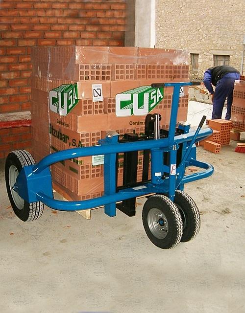 Movimentação fácil de carga em obra