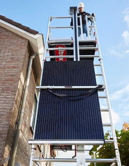 Ideal para a elevação de painéis solares